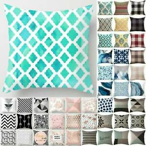 Geometric Print Throw Cushion Cover Waist Pillow Casual Case Home Bedroom Decor