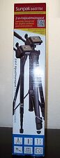 SUNPAK 6601TM 2-IN-1 TRIPOD MONOPOD FOR CAMERAS & CAMCORDERS 2nd PLATE FREE NIB
