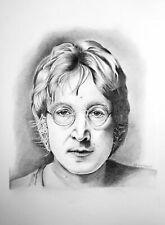 John Lennon Original Pencil Portrait Drawing