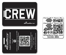 WingMate Electronic Smart NFC Crew Luggage Tag + 2 NFC Stickers Pack by Pilot Ex