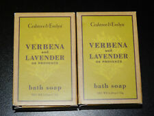 2 - CRABTREE & EVELYN VERBENA AND LAVENDER BATH SOAPS - 1.25 oz (New In Box)