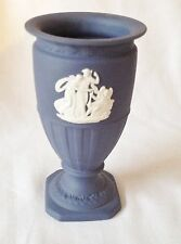 Wedgwood Jasperware Portland Blue Grecian Footed Vase