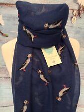 CORNISH PUFFIN  BLUE BIRD ANIMAL SCARF GIFT FRIEND PRESENT BIRDS PUFFINS WRAP