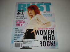 FLORENCE WELCH & the Machine on cover Bust magazine June 2011 rare