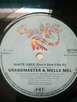 "Grandmaster & Melle Mel-White Lines 7"" Vinyl Single 1983 UK Copy"