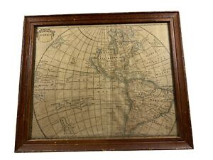 Antique Septentrional America 18th Century Map Of North & South America