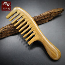 Natural Wooden Comb Wide Toothed Hair Comb Green Sandal Wood Comb Massage Brush