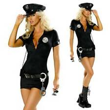 UK Women Sexy Police Cop Costume Officer Outfit Halloween Fancy Dress Hat