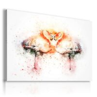PAINTING DRAWING FLAMINGS BIRDS PRINT Canvas Wall Art Picture  R50 UNFRAMED