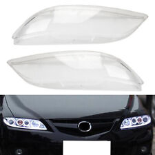 Replacement Headlight Headlamp Plastic Clear Lens Cover For Mazda 6 2003-2008
