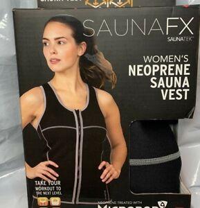 SaunaFX SaunaTek Women's Neoprene Sauna Vest Size Large - Brand New
