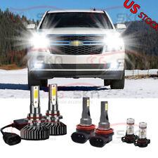 For Chevy Suburban Tahoe 2007-2014 - 6X 6000K LED Headlight Fog Light Bulbs Kit
