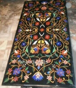 Hand Made Crafts Conference Table Top Black Marble Dining Table 30 x 60 Inches