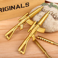 Novelty Cute Gold Rifle Shape Design Stationery Collect Black Ink Ballpoint Pen