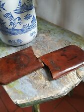 Antique Leather Wallet Cigar Case