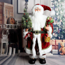 Traditional Father Christmas Santa Claus Figure Xmas Decoration 36Inch Luxury