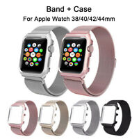 Stainless steel Band Strip Bracket For Apple Watch Seies 5/43/2/1 38mm 40mm 42mm