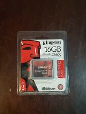 Kingston Ultimate 16GB 266X CompactFlash Card with Media Recovery