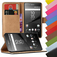 Book Case Handy Hülle aus Kunstleder für Sony Xperia Handy Tasche Schutz Hülle