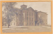 Childs Real Photo Postcard RPPC - Public School Dundee Illinois #5611