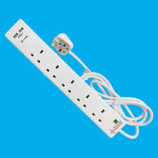 5 Gang Surge Protected Extension Lead 2m lead with Dual USB Ports & Neon Light