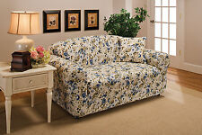 AQUA COVERS FOR SOFA COUCH  LOVESEAT CHAIR RECLINER-STRETCHES FOR A TIGHT FIT