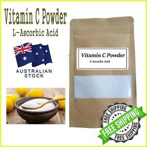 Pure Vitamin C Powder 100% L-Ascorbic Acid Pharma Grade, Collagen Booster