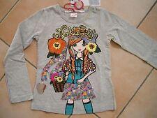 (C173) Nolita Pocket Girls Langarm Shirt + Logo Stickerei Druck & Besatz gr.110