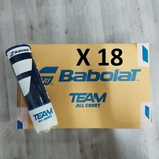 Babolat TEAM All Court EX FRENCH OPEN Cartone 18 tubi palline tennis +3 OVERGRIP