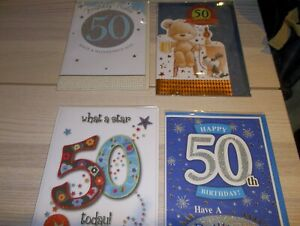 50th  Male Birthday card 4 to pick from