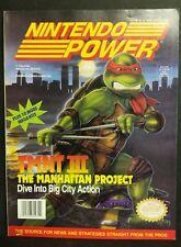 Nintendo Power Magazine Vol. 33 TMNT III Manhattan Project [w/ Poster]