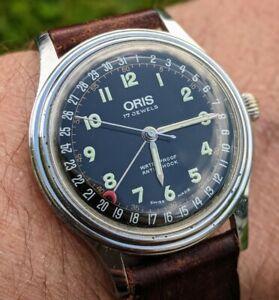 Vintage Oris Date Pointer 7376 Handwinding Watch, 37mm, 17 Jewels