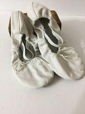 Ballet Dance Shoes White Leather Sole Ballet Size 5.5 E S0205L  Flats Slippers
