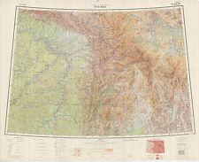 Russian Soviet Military Topographic Maps - UST-MAYA (Russia) 1:1Mio, ed.1957