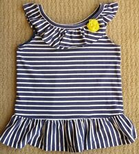 Gymboree Pocketful of Sunshine Navy Striped Corsage Tunic Tank Top Tee Shirt 12