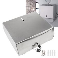 Washroom C FOLD Wall Mounted Hand Paper Towel Lockable Dispenser Stainless Steel