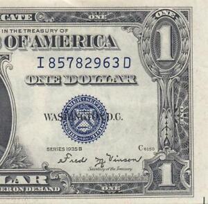 "1935-B UNITED STATES SILVER CERTIFICATE $1 ""Sig. Vinson"" ~RARE~ (( GEM UNC ))"
