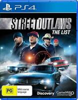 Street Outlaws The List PS4 Playstation 4 Brand New Sealed