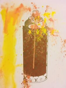 MR CLEVER ART LUXURY DRIPPED SPRAY CAN TIFFANY GOLD DUST PAINTING yellow brown
