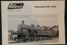 Brochure Modellismo Ferroviario - Liliput Neuheiten - 1970