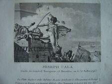 Gravure de JOSEPH CALA Guide du Général Bonaparte Egypte Alexandrie 1796