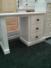 HANDMADE SPECIAL OFFER 3 DRAWER SINGLE D/ TABLE NO FLAT PACKS WHITE/MED OAK