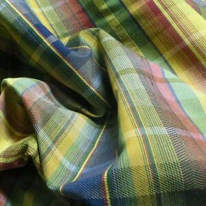 9.75 yards Woven Jewel Tone Multicolor Plaid Multi Purpose Upholstery Fabric