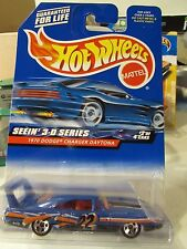 Hot Wheels 1970 Dodge Charger Daytona Seein' 3-d Series Blue w/5 sp
