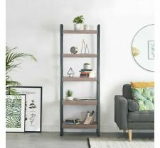 5 Tier Ladder Shelving Unit Display Stand Book Shelf Storage Bookcase Organiser