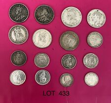 Foreign Silver Coins, Lot of 16, Lot #433, Australia, Swiss, Panama, Venez,VG-XF