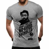 Mens Star Wars Han Solo Movie Lando Double Crosser Printed T-Shirt - Unisex