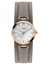 s.Oliver Damenuhr Uhr Leder Rosé Armbanduhr Analog Quarz SO-3120-LQ
