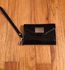 Michael Kors Black Python Apple iPhone 4 or 4s Case Wallet Clutch Wristlet