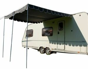 Caravan Awning Canopy Vintage Retro Style Sun Shade OLPRO - Charcoal